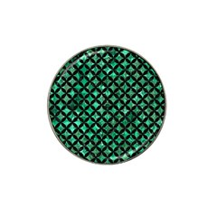 Circles3 Black Marble & Green Marble (r) Hat Clip Ball Marker by trendistuff