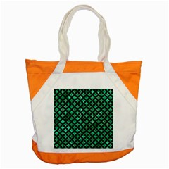 Circles3 Black Marble & Green Marble (r) Accent Tote Bag by trendistuff