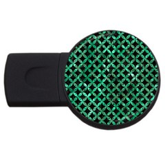 Circles3 Black Marble & Green Marble Usb Flash Drive Round (4 Gb) by trendistuff