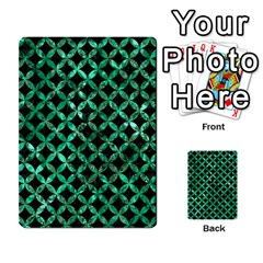 Circles3 Black Marble & Green Marble Multi Purpose Cards (rectangle) by trendistuff