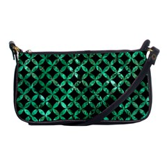 Circles3 Black Marble & Green Marble Shoulder Clutch Bag by trendistuff