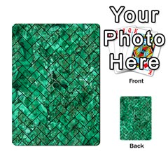 Brick2 Black Marble & Green Marble (r) Multi Purpose Cards (rectangle) by trendistuff