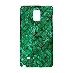 Brick2 Black Marble & Green Marble (r) Samsung Galaxy Note 4 Hardshell Case by trendistuff