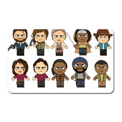 The Walking Dead   Main Characters Chibi   Amc Walking Dead   Manga Dead Magnet (rectangular) by PTsImaginarium