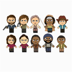 The Walking Dead   Main Characters Chibi   Amc Walking Dead   Manga Dead Collage 12  X 18