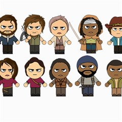 The Walking Dead   Main Characters Chibi   Amc Walking Dead   Manga Dead Canvas 20  X 24   by PTsImaginarium