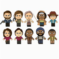 The Walking Dead   Main Characters Chibi   Amc Walking Dead   Manga Dead Canvas 20  X 30   by PTsImaginarium