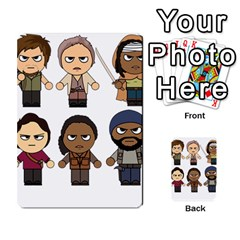 The Walking Dead   Main Characters Chibi   Amc Walking Dead   Manga Dead Multi Purpose Cards (rectangle)  by PTsImaginarium