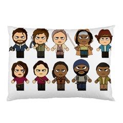 The Walking Dead   Main Characters Chibi   Amc Walking Dead   Manga Dead Pillow Case by PTsImaginarium