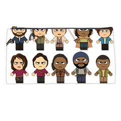 The Walking Dead   Main Characters Chibi   Amc Walking Dead   Manga Dead Pencil Cases