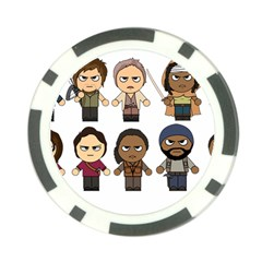 The Walking Dead   Main Characters Chibi   Amc Walking Dead   Manga Dead Poker Chip Card Guards (10 Pack)  by PTsImaginarium