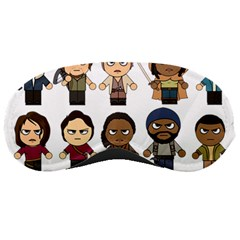 The Walking Dead   Main Characters Chibi   Amc Walking Dead   Manga Dead Sleeping Masks by PTsImaginarium