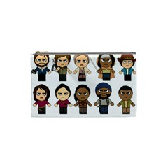 The Walking Dead   Main Characters Chibi   Amc Walking Dead   Manga Dead Cosmetic Bag (small)  by PTsImaginarium