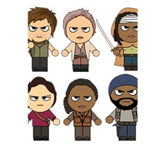 The Walking Dead   Main Characters Chibi   Amc Walking Dead   Manga Dead 5 5  X 8 5  Notebooks by PTsImaginarium
