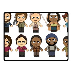 The Walking Dead   Main Characters Chibi   Amc Walking Dead   Manga Dead Fleece Blanket (small) by PTsImaginarium