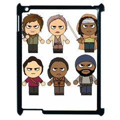 The Walking Dead   Main Characters Chibi   Amc Walking Dead   Manga Dead Apple Ipad 2 Case (black) by PTsImaginarium