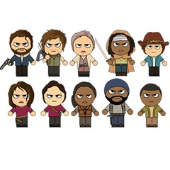 The Walking Dead   Main Characters Chibi   Amc Walking Dead   Manga Dead Birthday Cake 3d Greeting Card (7x5)