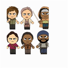 The Walking Dead   Main Characters Chibi   Amc Walking Dead   Manga Dead Large Garden Flag (two Sides) by PTsImaginarium