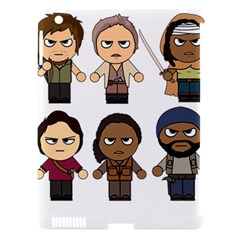 The Walking Dead   Main Characters Chibi   Amc Walking Dead   Manga Dead Apple Ipad 3/4 Hardshell Case (compatible With Smart Cover) by PTsImaginarium