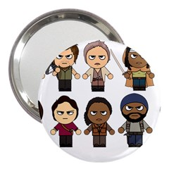 The Walking Dead   Main Characters Chibi   Amc Walking Dead   Manga Dead 3  Handbag Mirrors by PTsImaginarium