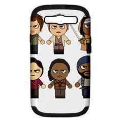 The Walking Dead   Main Characters Chibi   Amc Walking Dead   Manga Dead Samsung Galaxy S Iii Hardshell Case (pc+silicone) by PTsImaginarium