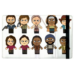 The Walking Dead   Main Characters Chibi   Amc Walking Dead   Manga Dead Apple Ipad 3/4 Flip Case by PTsImaginarium