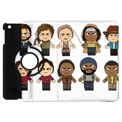 The Walking Dead   Main Characters Chibi   Amc Walking Dead   Manga Dead Apple Ipad Mini Flip 360 Case by PTsImaginarium
