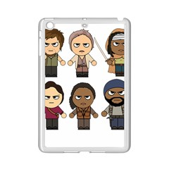 The Walking Dead   Main Characters Chibi   Amc Walking Dead   Manga Dead Ipad Mini 2 Enamel Coated Cases by PTsImaginarium