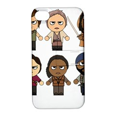 The Walking Dead   Main Characters Chibi   Amc Walking Dead   Manga Dead Apple Iphone 4/4s Hardshell Case With Stand by PTsImaginarium