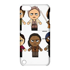 The Walking Dead   Main Characters Chibi   Amc Walking Dead   Manga Dead Apple Ipod Touch 5 Hardshell Case With Stand by PTsImaginarium