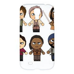 The Walking Dead   Main Characters Chibi   Amc Walking Dead   Manga Dead Samsung Galaxy S4 I9500/i9505 Hardshell Case by PTsImaginarium