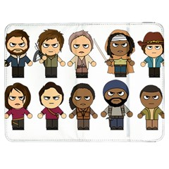 The Walking Dead   Main Characters Chibi   Amc Walking Dead   Manga Dead Samsung Galaxy Tab 7  P1000 Flip Case by PTsImaginarium