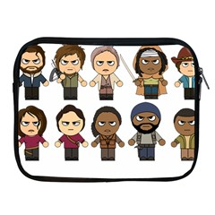The Walking Dead   Main Characters Chibi   Amc Walking Dead   Manga Dead Apple Ipad 2/3/4 Zipper Cases by PTsImaginarium