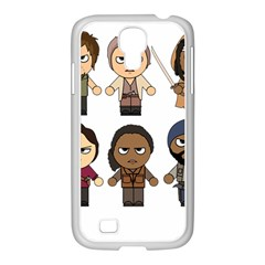 The Walking Dead   Main Characters Chibi   Amc Walking Dead   Manga Dead Samsung Galaxy S4 I9500/ I9505 Case (white) by PTsImaginarium