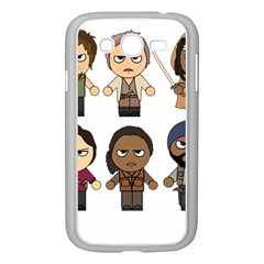 The Walking Dead   Main Characters Chibi   Amc Walking Dead   Manga Dead Samsung Galaxy Grand Duos I9082 Case (white) by PTsImaginarium