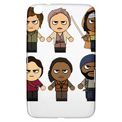 The Walking Dead   Main Characters Chibi   Amc Walking Dead   Manga Dead Samsung Galaxy Tab 3 (8 ) T3100 Hardshell Case  by PTsImaginarium