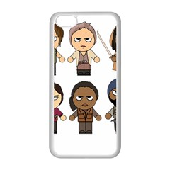 The Walking Dead   Main Characters Chibi   Amc Walking Dead   Manga Dead Apple Iphone 5c Seamless Case (white) by PTsImaginarium