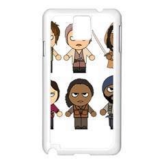 The Walking Dead   Main Characters Chibi   Amc Walking Dead   Manga Dead Samsung Galaxy Note 3 N9005 Case (white) by PTsImaginarium