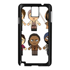 The Walking Dead   Main Characters Chibi   Amc Walking Dead   Manga Dead Samsung Galaxy Note 3 N9005 Case (black) by PTsImaginarium