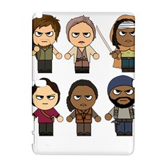 The Walking Dead   Main Characters Chibi   Amc Walking Dead   Manga Dead Samsung Galaxy Note 10 1 (p600) Hardshell Case by PTsImaginarium