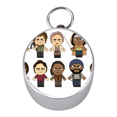 The Walking Dead   Main Characters Chibi   Amc Walking Dead   Manga Dead Mini Silver Compasses by PTsImaginarium