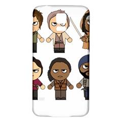 The Walking Dead   Main Characters Chibi   Amc Walking Dead   Manga Dead Samsung Galaxy S5 Back Case (white) by PTsImaginarium