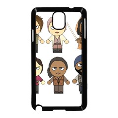 The Walking Dead   Main Characters Chibi   Amc Walking Dead   Manga Dead Samsung Galaxy Note 3 Neo Hardshell Case (black) by PTsImaginarium