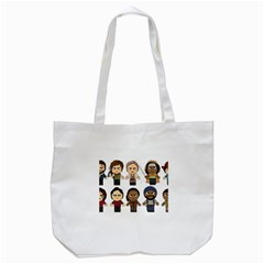 The Walking Dead   Main Characters Chibi   Amc Walking Dead   Manga Dead Tote Bag (white) by PTsImaginarium
