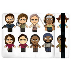 The Walking Dead   Main Characters Chibi   Amc Walking Dead   Manga Dead Ipad Air 2 Flip by PTsImaginarium