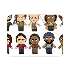 The Walking Dead   Main Characters Chibi   Amc Walking Dead   Manga Dead Double Sided Flano Blanket (mini)  by PTsImaginarium