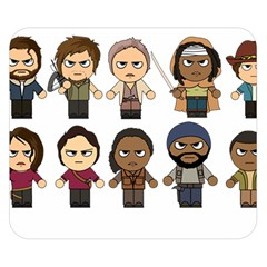 The Walking Dead   Main Characters Chibi   Amc Walking Dead   Manga Dead Double Sided Flano Blanket (small)  by PTsImaginarium