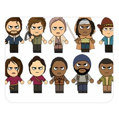The Walking Dead   Main Characters Chibi   Amc Walking Dead   Manga Dead Double Sided Flano Blanket (large)  by PTsImaginarium