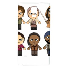 The Walking Dead   Main Characters Chibi   Amc Walking Dead   Manga Dead Galaxy Note 4 Back Case by PTsImaginarium