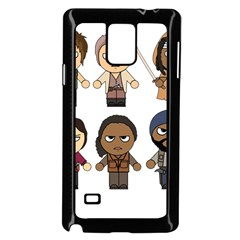 The Walking Dead   Main Characters Chibi   Amc Walking Dead   Manga Dead Samsung Galaxy Note 4 Case (black) by PTsImaginarium